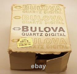 1977 Bulova Computron Ladies Red LED Digital Wrist Watch N7 in Original Boxes