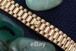 26mm Diamond Rolex 18K Yellow Gold Blue Dial Ladies Presidential Watch