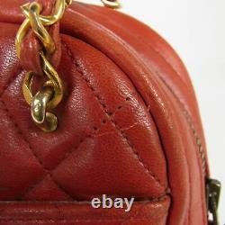 Auth CHANEL Vintage CC Matelasse Quilted Leather Chain Shoulder Bag 16792bkac