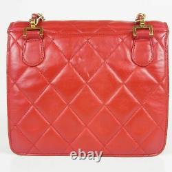 Auth CHANEL Vintage Matelasse Leather Chain Shoulder Bag 16712bkac