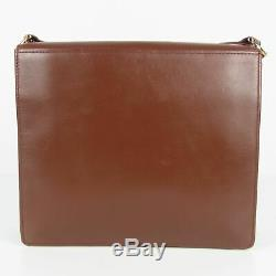 Auth Cartier must Vintage Logos Leather Crossbody Shoulder Bag F/S 13867b