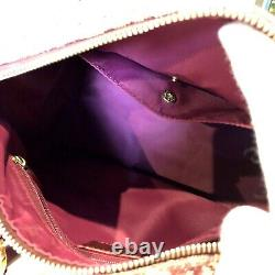 Auth Christian Dior Trotter Boston Hand Bag PVC Red Vintage From Japan