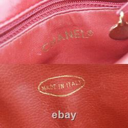 Authentic CHANEL CC Bicolor Bum Bag Belt Leather Red Navy Blue Vintage 57MD531