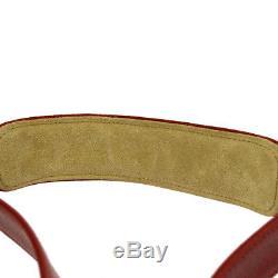 Authentic CHANEL Vintage CC Logos Shoulder Strap Key Padlock Set Red AK33256j