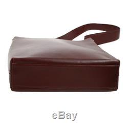 Authentic Salvatore Ferragamo Shoulder Bag Bordeaux Leather Vintage AK25765g