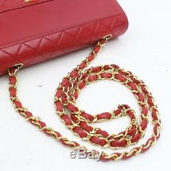 Authentic Vintage Chanel Shoulder Bag Single flap turn lock chain tote 1205952
