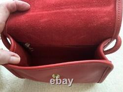 Brand Nwot Vintage Coach Crossbody Push Lock Shoulder Bag In Red Rare