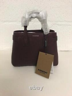 Burberry Small Banner Mahogany Red Leather And Vintage Check Bag £1295