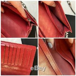 CERTIFIED AUTH. CHANEL Red Quilted Long WalletUS SELLER