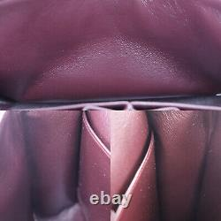 CHANEL Matelasse Double Flap Chain Shoulder Bag Bordeaux Suede Auth #PP975 O