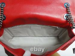 CHANEL Shoulder Bag Vintage classic JUMBO Red Rare Mint(Used) 100% authentic