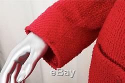 CHANEL Vintage Red Boucle CC Logo Button Pant Suit Jacket Blazer Medium / Large