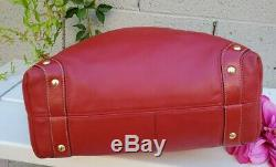 COACH Carly Large Hobo Shoulder Handbag red 10616 vintage purse satchel bag