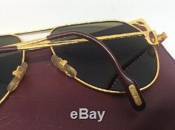 Cartier Vendome Red Laque De Chine Vintage Sunglasses 59 X 16 For Collectors