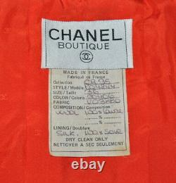 Chanel 1995 Iconic Vintage Coral Red Tweed Cropped Jacket, 36, Collector's Piece