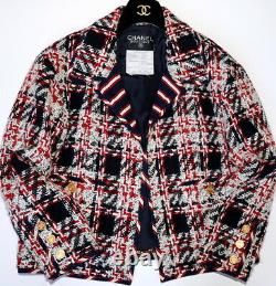 Chanel Iconic Vintage Navy/red/white Tweed Jacket Blazer, 38, Collector's Piece