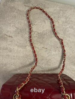 Chanel Vintage Cherry Red Diana Flap Bag