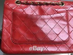 Chanel Vintage Red Leather Bag