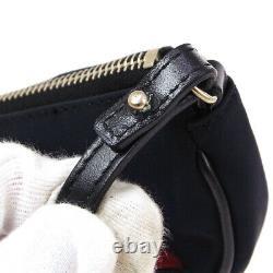 Christian Dior Saddle beads Spangle Hand Bag Red Black Satin VTG 05282