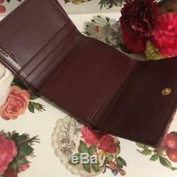 Christian Dior Trotter Canvas Saddle Bifold Wallet Vintage Red Used