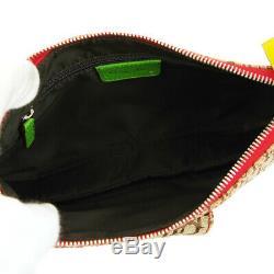 Christian Dior Trotter Saddle Cross Body Shoulder Bag Rasta Color VTG AK38415b