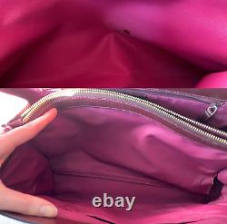 Christian Dior Vintage Double Pocket Red Oblique Jacquard Monogram Tote Bag