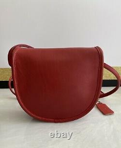 Coach Vintage Red Leather Mini Bag Crossbody 1980's Bag 9825