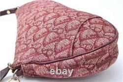 Dior Bag Saddle Trotter Handbag Shoulder Diorissimo Monogram Purse Vintage Red