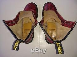 Doc Dr. Martens Boots Red Soles Imprint Made In England Rare Vintage 6uk Usw8m7