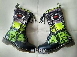 Doc Dr. Martens Red Dm's Eye & Barbwire Boots Rare Vintage Made In England 7 Uk