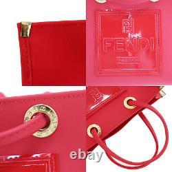 FENDI Zucca Pattern Hand Bag Handkerchief Red Vintage Authentic #UU485 S