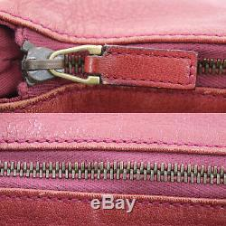 GUCCI GG Logos Shoulder Hand Bag Red Leather Vintage Italy Authentic #GG90 O