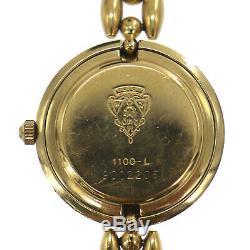 GUCCI Wrist Watch Change Bezel Quartz Gold Swiss Vintage Authentic #MM59 O