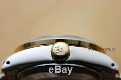 Genuine Rolex Ladies Datejust Silver Diamond Dial 18k Yellow Gold & Steel Watch