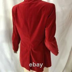 Gucci BY Tom Ford vintage red velvet blazer jacket I 44 mint