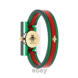 Gucci YA143503 Women's Vintage Web Green and Red Quartz Watch