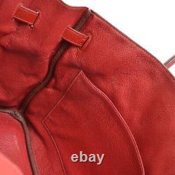 HERMES BIRKIN 35 Hand Bag 1014I Purse Red Fjord Leather vintage 41126