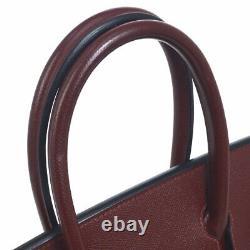 HERMES BIRKIN 35 Hand Bag Bordeaux Veau Greine Couchevel Vintage RK14220g