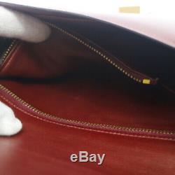 HERMES CONSTANCE 23 Shoulder Bag L Purse Burgundy Box Calf Vintage K08789