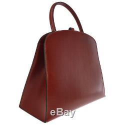 HERMES DALVY Hand Bag Bordeaux Box Calf France Vintage GHW E NR14566