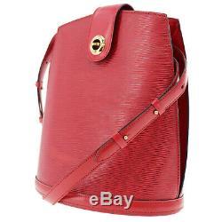 LOUIS VUITTON Cluny Shoulder Bag Epi Leather Red M52257 Vintage Auth #KK271 Y