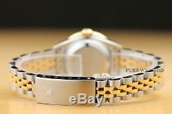 Ladies Rolex Datejust 1.13 Ct Diamond Bezel & Lugs 18k Yellow Gold & Steel Watch