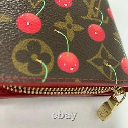 Louis Vuitton Cherry Takashi Murakami Compact Wallet Red, Vintage Excellent