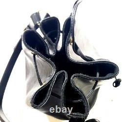 Louis Vuitton Epi Leather Petit Noe Drawstring Shoulder Bucket Bag Black Vintage