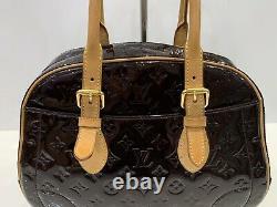 Louis Vuitton Monogram Vernis Amarante Summit Drive Bag Bowling Shoulder Bag
