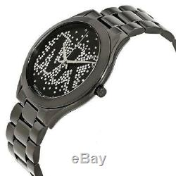 Michael Kors MK3589 Slim Runway Black Logo Wrist Watch for Women