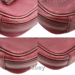 Must de Cartier Logos Shoulder Bag Bordeaux Leather Vintage Authentic #FF384 O