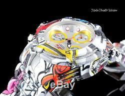 NEW Invicta Lady 42mm Bolt Zeus Graffiti Quartz Chronograph Hydroplated Watch