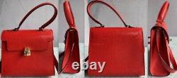 Original vintage FENDI small red evening Bag