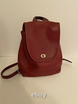 RARE Vintage COACH #9791 RED Daypack / MINI BACKPACK / Purse